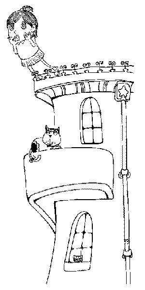 窗台小盆摘手绘图片