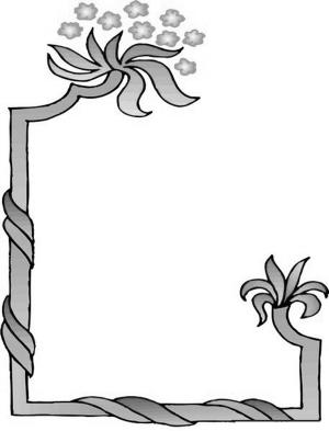 温馨可爱边框黑白